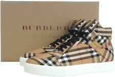 NEW BURBERRY LADIES ALF REESE CLASSIC CHECK CANVAS HIGH TOP SNEAKERS SHOES 37/7