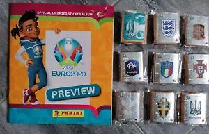 EURO 2020 Preview PANINI ORANGE Version Complete set  568 stickers + empty album