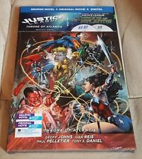 Justice League: Throne of Atlantis (Blu-ray/DVD, 2016, w/ Graphic Novel HB)