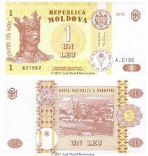 Moldova 1 Leu 2010  P-8h  Banknotes  UNC