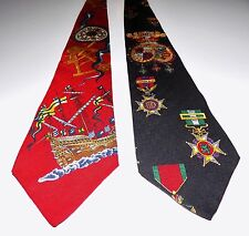 Vintage Tommy Hilfiger Textured Silk Neck Ties Lot of 2
