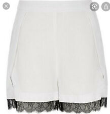 White River Island Shorts With Black Lace Detail Size 8
