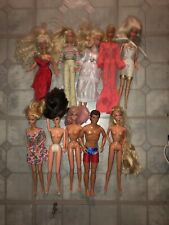 1966/1968 Vintage Barbie & Ken doll lot w/  clothes SMALL COLLECTION CLOTHED