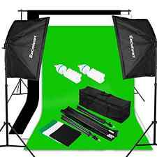 Excelvan Photo Video Studio Lighting Kit (1250W Soft Box) W / 3 Background Backd