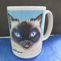 Siamese Cat Coffee Tea Mug Cup by Chris Galligan