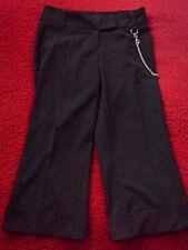 Womens Chain Pinstripe Pants Stefani No Doubt 90s Grunge Vintage Cuffed Capris
