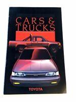 1987 Toyota Line 24-page Car Sales Brochure Catalog - Land Cruiser Truck 4Runner