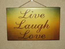"NEW Art Frames Decor   Sign 5"" X 8"" X 3/4""  - Live Laugh Love Makes GREAT GIFT!!"