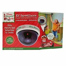 Elf Flashing LED Fake Dummy Dome CCTV Security White Camera Surveillance Light