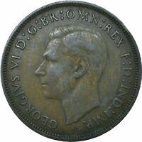 1939 ONE PENNY GB UK GEORGE VI.     #WT19661