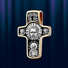 Russische Kreuzanhänger Silber 925 vergoldet 999° Anhänger 6.4g  29mm
