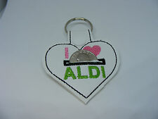 Aldi Heart Shape Quarter Keeper Key Chain Multi Colors