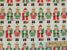 Holly Jolly Nutcracker Solidier Christmas Kaufman Fabric by the 1/2 Yard  #16655