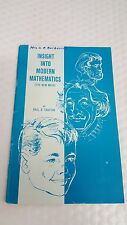 insight into modern mathematics 1965 by paul r. trafton, paperback, pp;56
