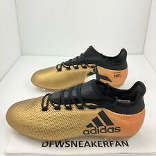 Mens Adidas X 17.2 FG Soccer Cleats sz 8 Metallic Gold Black Solar Red CP9186