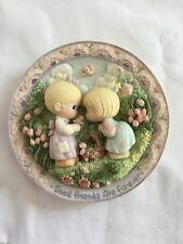 """Precious Moments """"Good Friends Are Forever"""" by Sam Butcher 1996Plate Collection"""