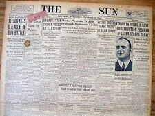 """1934 newspaper gangster """"BABY FACE"""" NELSON KILLS 2 FBI AGENTS at BARRINGTON IL"""