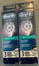 2 LOT Oral-B  PRO GUM-CARE ULTRA THIN Replacement Toothbrush Brush Heads 6 TOTAL