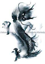 "US SELLER, watercolor dragon 8.25"" large arm temporary tattoo body art tattoos"