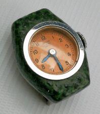 Vtg Art Deco Bucherer Lucerne Shagreen Miniature Lapel Brooch Nurses Fob Watch