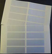 16 Silver Plastic Mini Stickers, 75x25mm Rectangle, Labels, Plain, Blank, BLC527