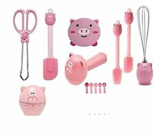 Joie Piggy Oink MSC Kitchen Gadget Set of 7 - Home Kitchen Basic Tool Bundle