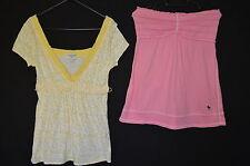 Bundle 2 ABERCROMBIE & FITCH tops taille M / L rose / jaune