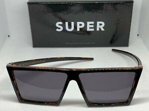 Retrosuperfuture 449 W Havana Black Top Frame Size 58mm Sunglasses NIB