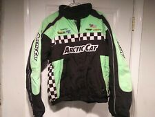 Arctic Cat Embroidered Racing Jacket Snowmobiling Coat Sz Mens XL Logos!