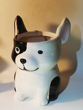 NWT Boston Terrier w patch French Bulldog  Bully dog porcelain Holder New