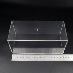 Model Car Acrylic Display Case boxes Transparent Dust proof with Black Base Gift