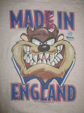 "1996 UEFA EURO ""Made in ENGLAND"" TAZ TASMANIAN DEVIL (LG) T-Shirt SOCCER"
