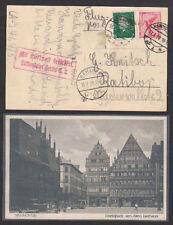 Echte Briefmarken aus der Philatelie aus dem deutschen Reich