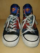 Converse Chuck Taylor All Star Superman DC Comics Sneakers Men's Size 6.5M, 8.5W