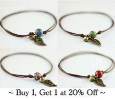 Bracelet Anklet Ankle Leaf Ceramic Bead Jewellery Charm Gold Adjustable Girls