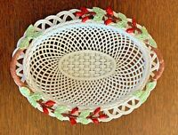 Belleek Ireland Floral Basket with Handles – Free Shipping