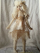 Ooak Antique Lace doll outfit by Heliantas Cecile Boiron Antik Fabriks For Bjd