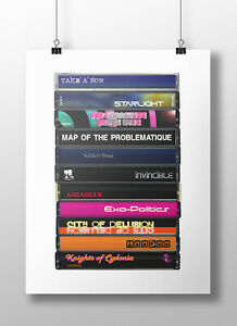 Muse, Black Holes & Revelations: Cassette Print, Original Album, Fan, Gift, Art