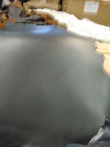 7/8 oz Black Saddlebag Strap Sling Pouch Collar Belt Cowhide Leather 24-26SqFt