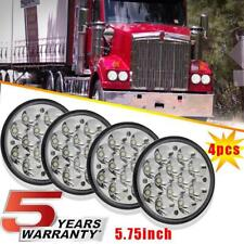 "4pcs 5.75 5-3/4"" Round CREE LED Headlights Hi/LO Beam Bulb for Peterbilt 349 359"