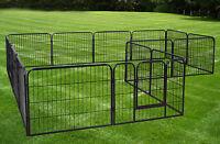 Large 16 Panels Pet Dog Cat Metal Exercise Barrier Fence Playpen Kennel Yard New
