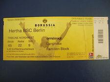 08/09 Borussia Dortmund - Hertha BSC Berlin BVB Eintrittskarte Ticket DFB Pokal