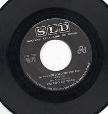 RICCARDO DEL TURCO  raro disco 45 giri STAMPA LIBANESE  Luglio  1968
