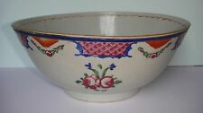 Rare Antique Chinese Export Large Ceramic Porcelain Bowl Mandarin Famille Rose