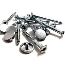 12 x MIRROR SCREW - ZINC - POLISHED CHROME DISC - 50mm