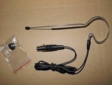 Single loop Ear Hook Headset Mic Microphone for AKG, Samson ... 3pin mini female