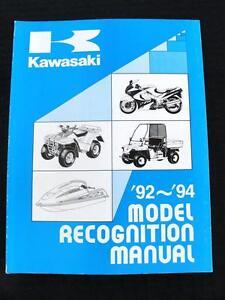 1992 1993 1994 KAWASAKI 500 750 900 1000 1100 1500 MOTORCYCLE RECOGNITION MANUAL