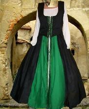 Medieval Costume Renaissance SCA Garb Celtic KellyBlack Wench BodiceOvrskt L XL
