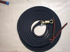 22' BLACK LONGE LINE LEAD ROPE W/PARELLI TWIST SNAP FOR NATURAL HORSE TRAINING