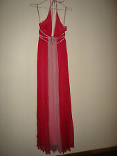 CHARLOTTE MOORE TWO TONE PINK GODDESS EVENING DRESS SIZE 8 RRP.$399.95
